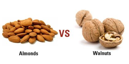 almonds vs walnuts