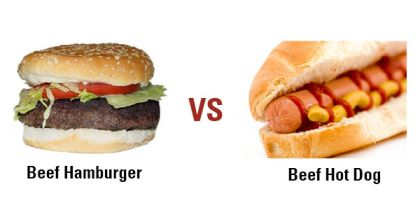 Burger vs dog