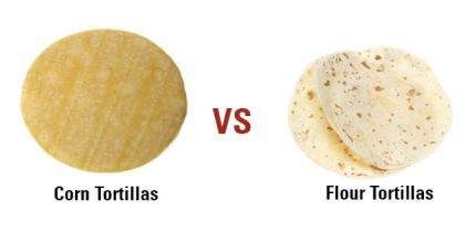 Corn vs flour tortillas
