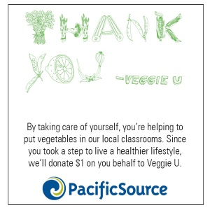 Veggie U_Thank you card