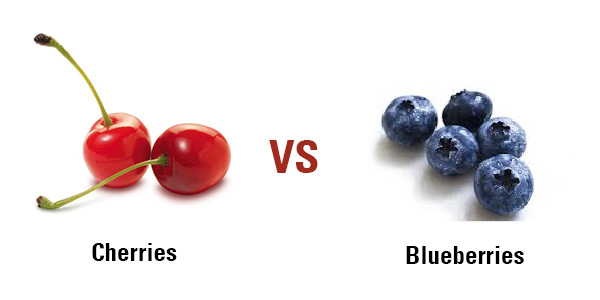 Cherries vs. Blueberries