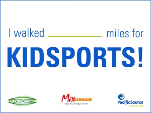 I walked for KIDSPORTS