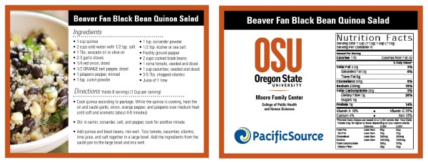 Beaver Fan Black Quinoa Salad