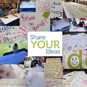 Share your ideas collage