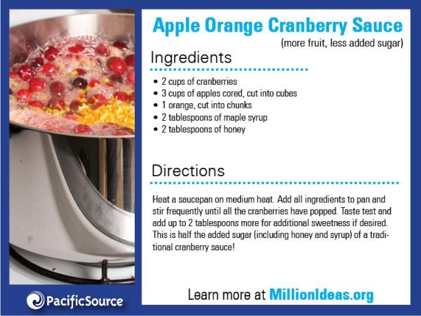 Apple Orange Cranberry Sauce