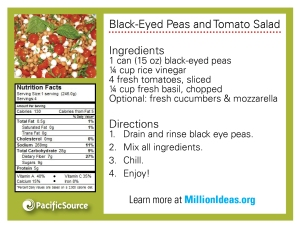 Black Eyes Peas and Tomato Salad