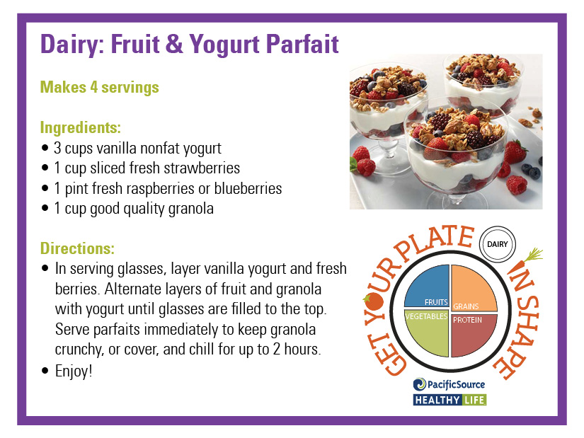 fruit and yogurt parfait carbs in fruit