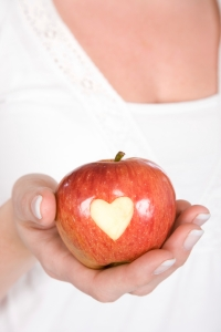 Apple with heart_iStock_000009213845XLarge